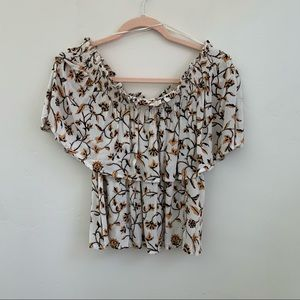 Amuse society   off the shoulder floral top  large